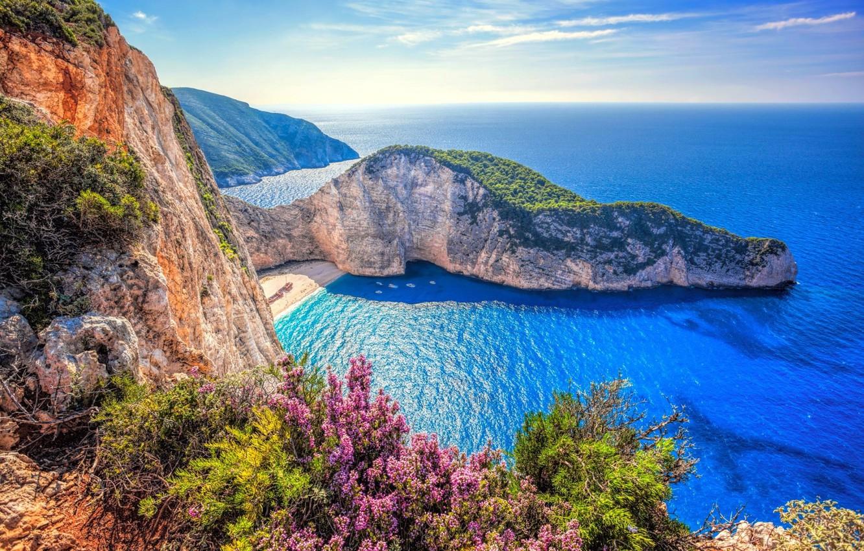 Photo wallpaper sea, landscape, nature