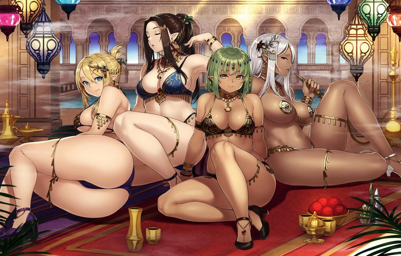 Photo wallpaper sexy, girls, group