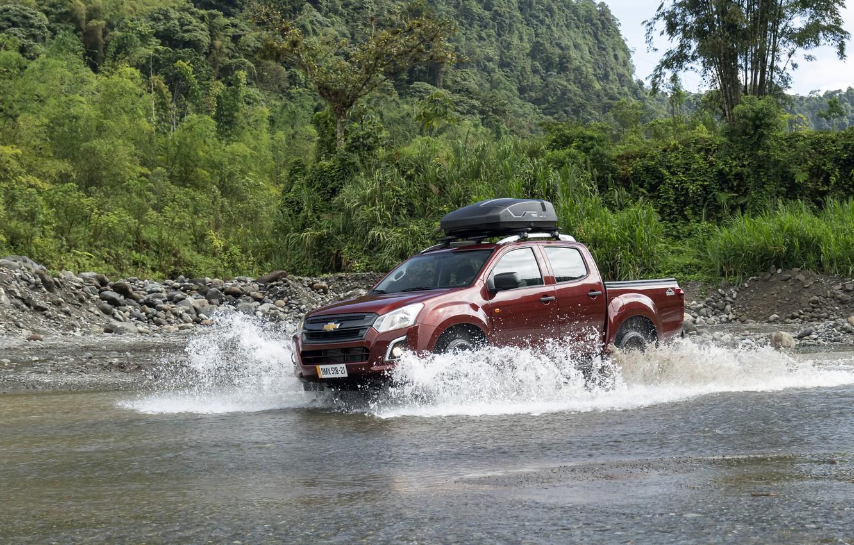 Photo wallpaper squirt, river, Chevrolet, pickup, Isuzu, 2020, D-Max, 2021, Hi-Ride