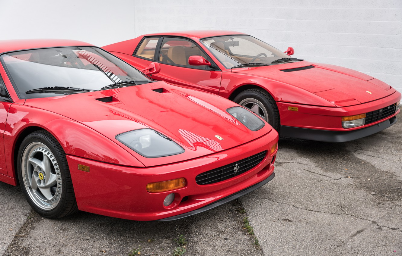 Photo wallpaper Classic, Supercars, Ferrari F355, Ferrari Testarossa
