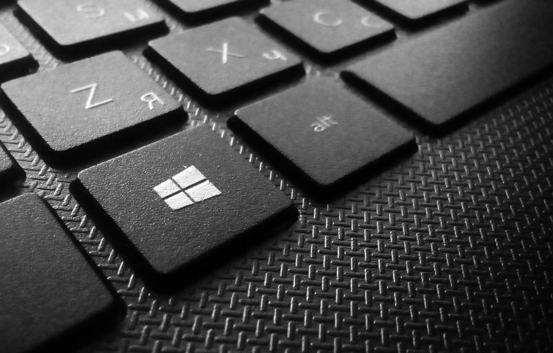 Photo wallpaper Macro, Keyboard, Laptop, Start, Start, Blur, Button