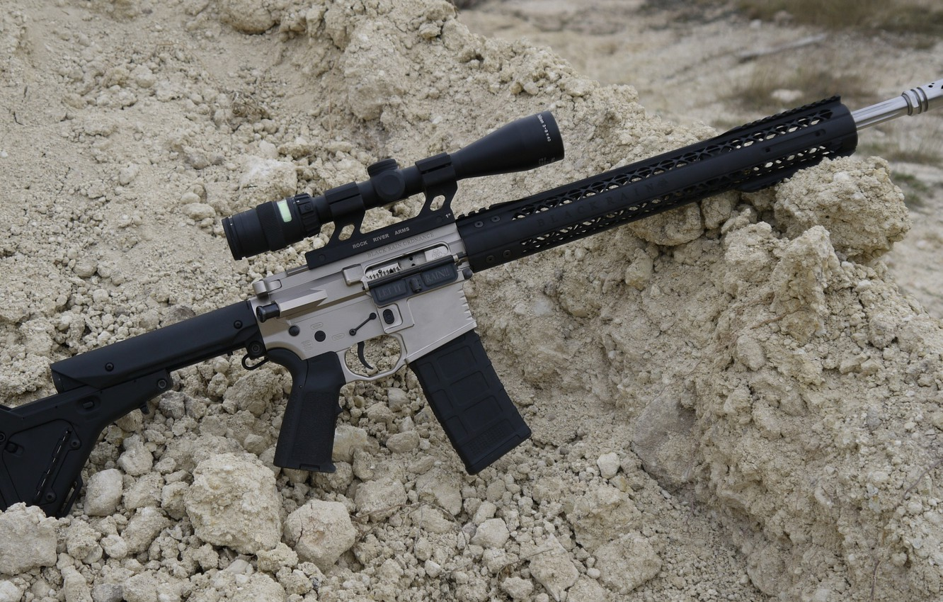 Photo wallpaper weapons, rifle, weapon, custom, ar-15, assault rifle, assault Rifle, ar-15, ar 15, ar 15