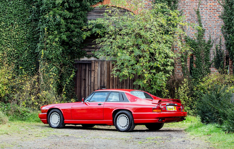 Photo wallpaper Red, Supercar, Classic car, Jaguar XJR-S