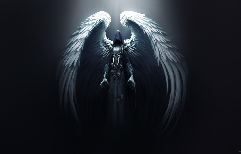 Wallpaper Angel Dark Wings Death Goddess Darkness