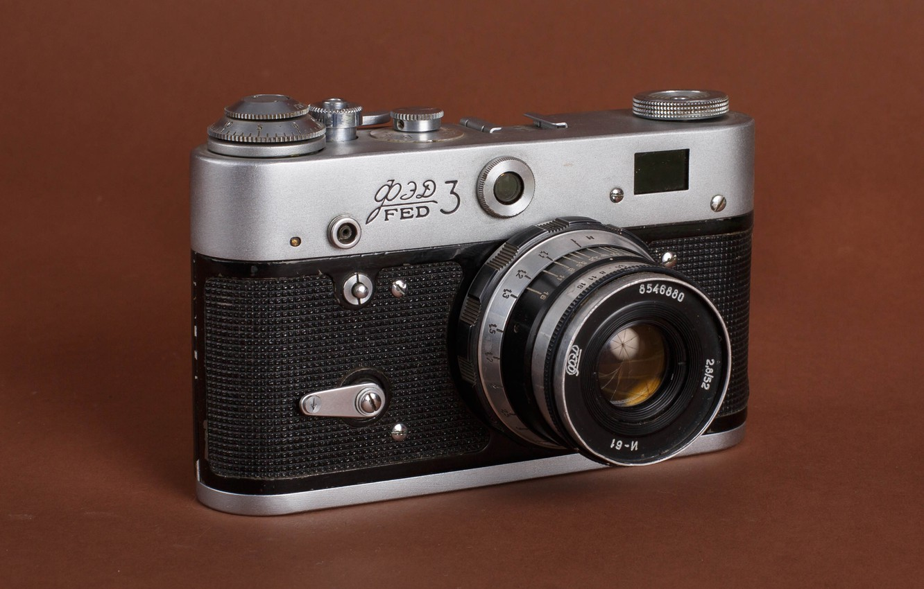 Photo wallpaper photo, USSR, tecnicatura, Fed 3, photographer Alexander butchers, old camera