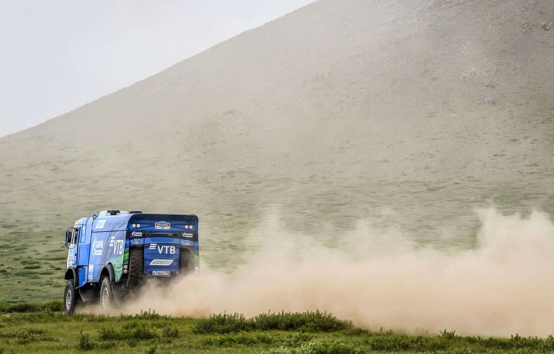 Photo wallpaper Auto, Dust, Sport, Machine, Truck, Race, Master, Russia, Race, Russia, Kamaz, Rally, KAMAZ-master, Rally, Truck, …