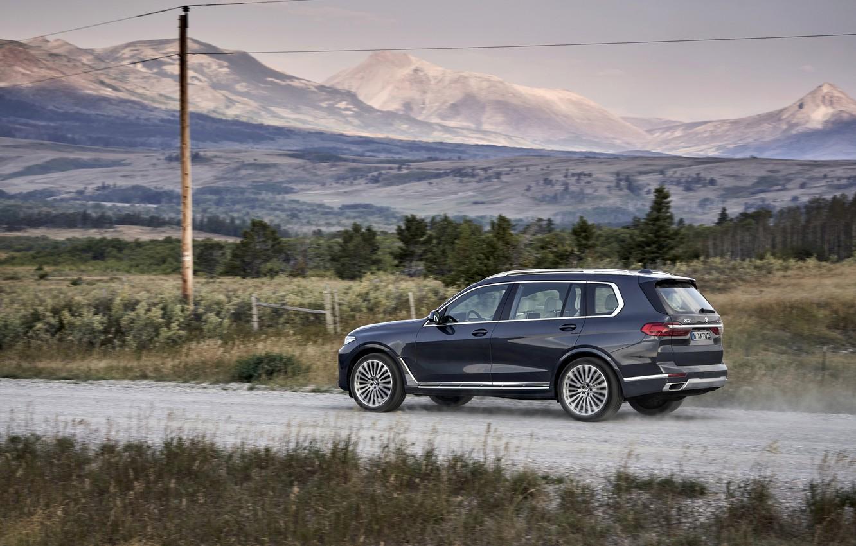 Photo wallpaper field, movement, post, BMW, 2018, crossover, SUV, 2019, BMW X7, X7, G07