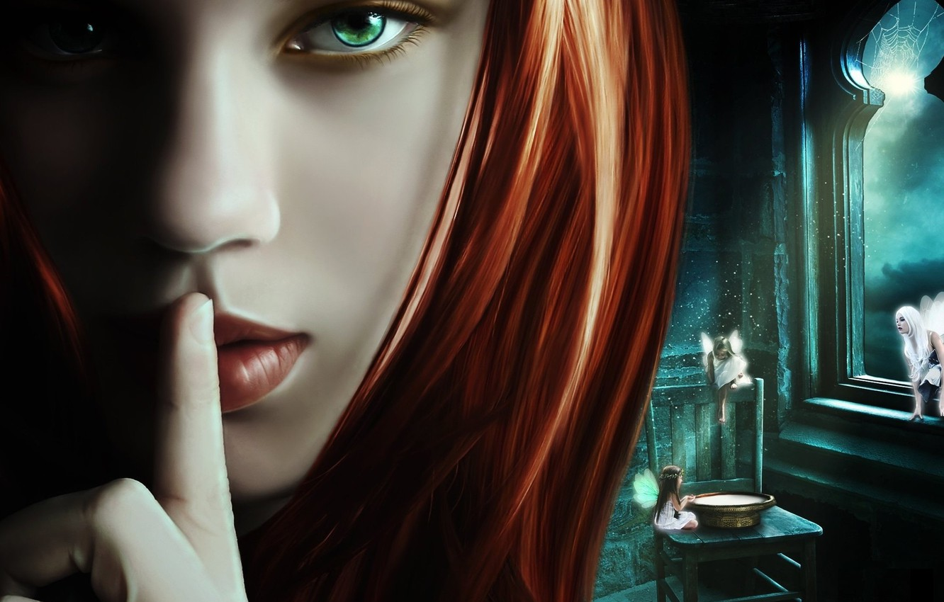 Photo wallpaper face, rendering, Gothic, lips, fairies, lips, face, rendering, Gothic, fairies