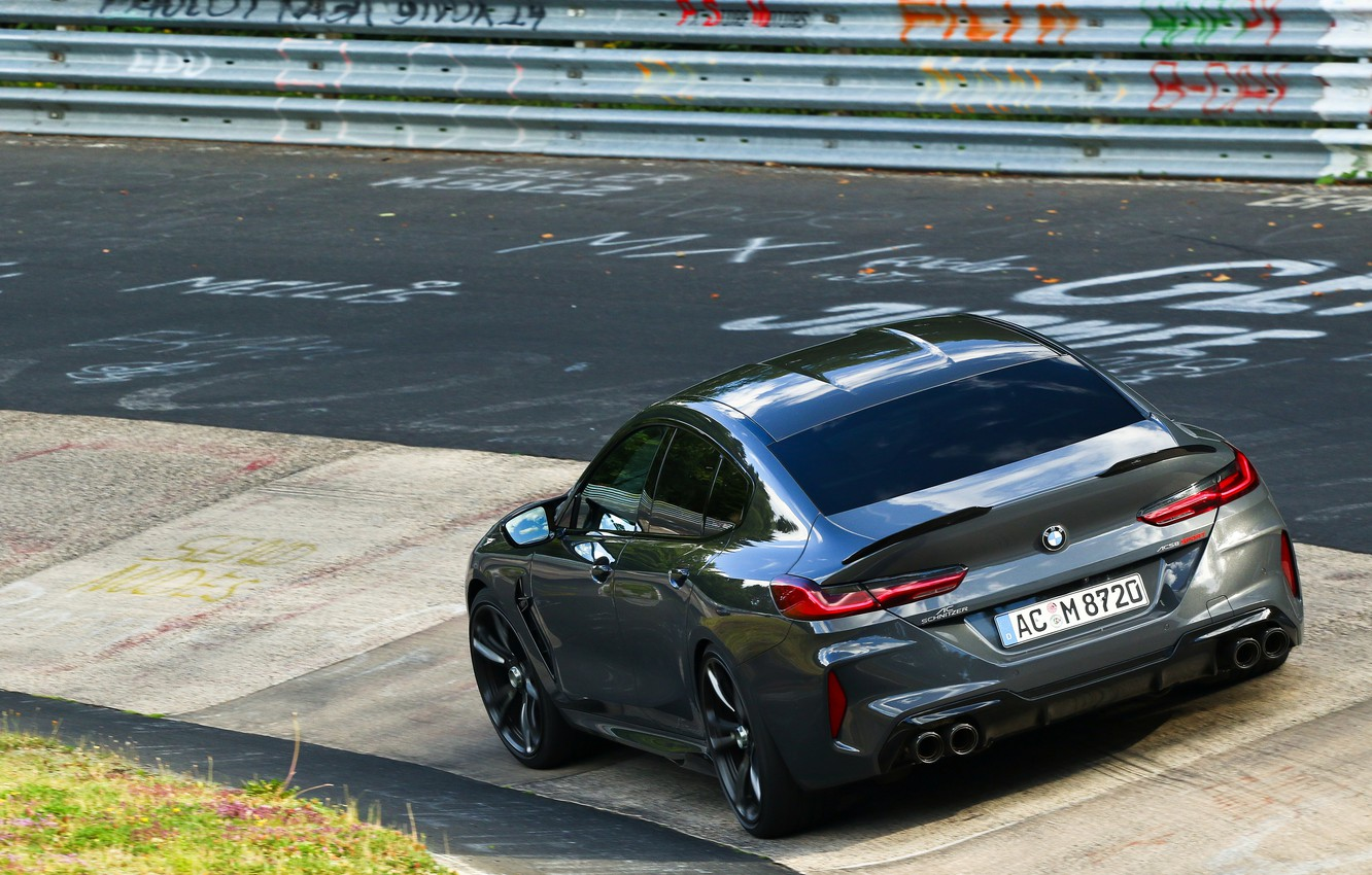 Photo wallpaper coupe, BMW, the fence, Gran Coupe, AC Schnitzer, on the track, 2020, BMW M8, M8, …