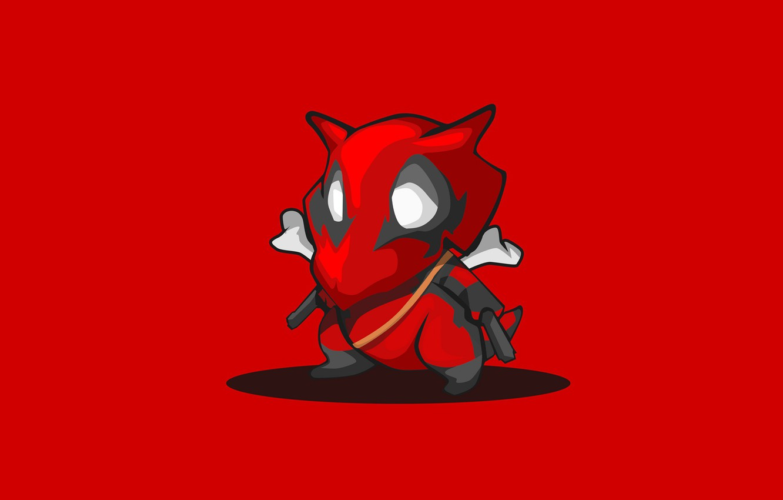 Photo wallpaper red, background, minimalism, Pokemon, Pokemon