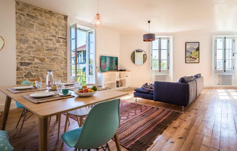Photo wallpaper interior, living room, dining room, Biarritz