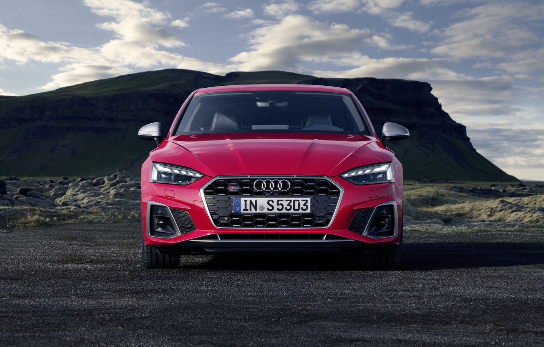 Photo wallpaper Audi, front view, Audi S5, 2020, Coupe TDI