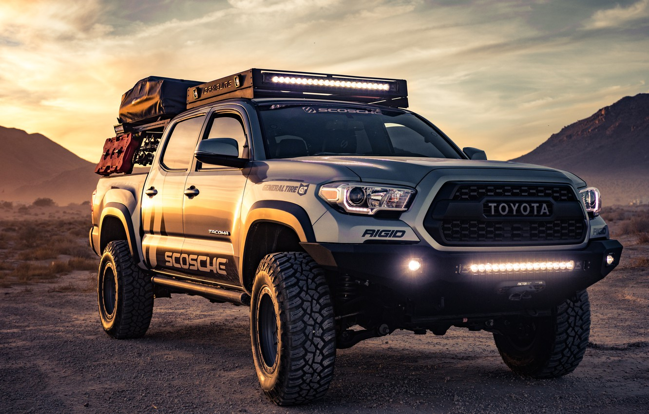 Photo wallpaper Toyota, Custom, Tacoma, Toyota Tacoma Custom