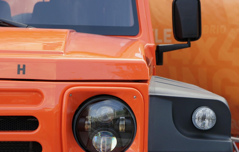 Photo wallpaper orange, lights, the hood, SUV, grille, 2011, 4x4, Travec, Tecdrah Integrale 1.5 TTi, Renault/Dacia Duster, …