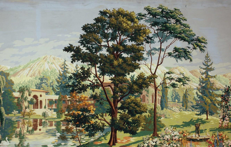 Photo wallpaper 1926, Charles Ephraim Burchfield, The Riviera, center panel