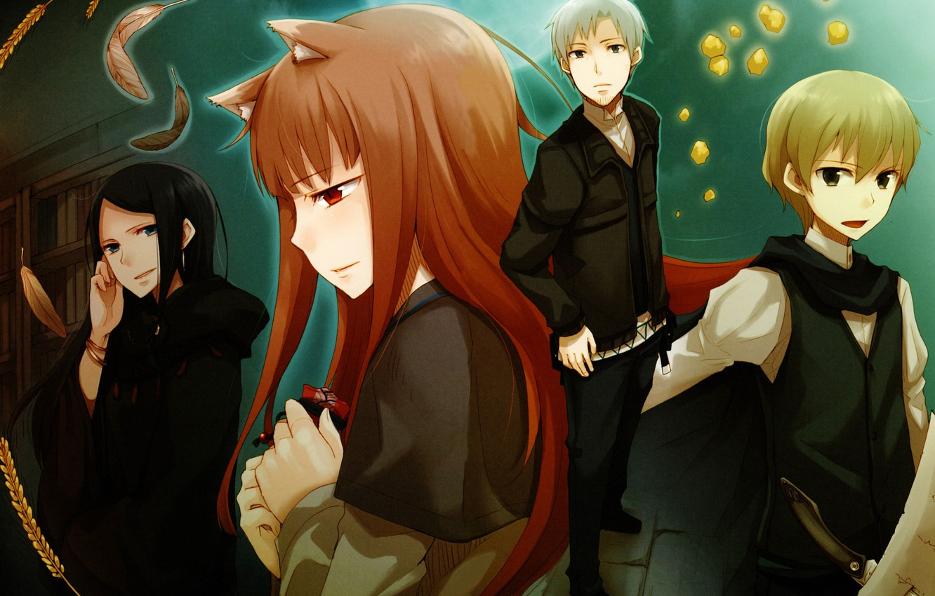 Wallpaper Characters Spice And Wolf Holo Kraft Lawrence Spice And Wolf Images For Desktop Section Sejnen Download
