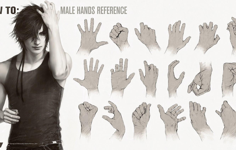 Photo wallpaper hands, guy, handsome