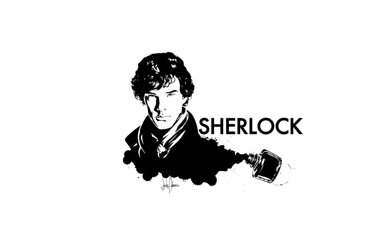 Wallpaper White Background Sherlock Holmes Ink Sherlock
