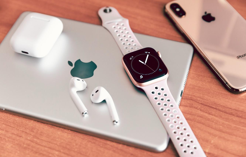Photo wallpaper Apple, phone, tablet, EPL