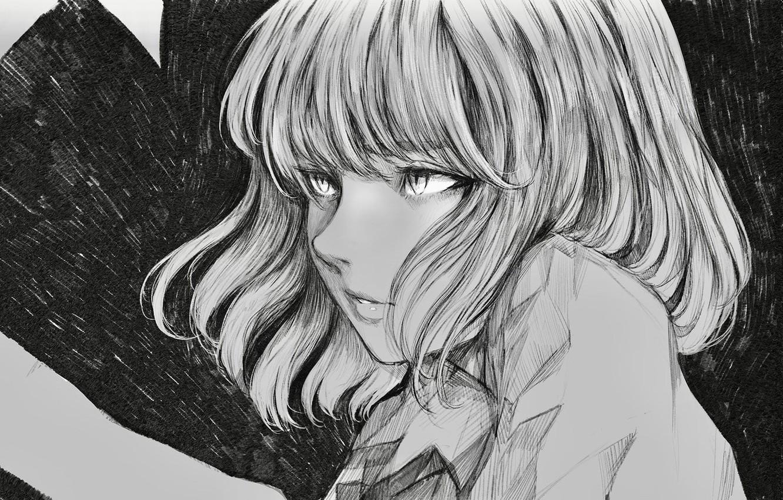 Photo wallpaper girl, background, figure, portrait, anime