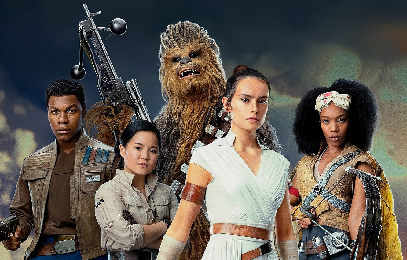 Wallpaper Star Wars Poster Characters Star Wars Episode Ix The Rise Of Skywalker Images For Desktop Section Filmy Download