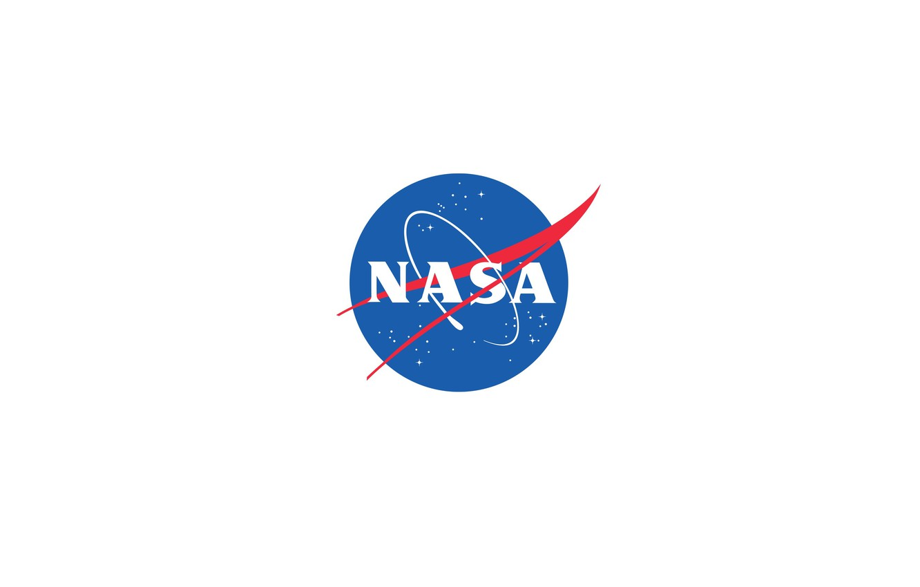 Photo wallpaper The sky, The moon, Space, Emblem, USA, USA, Moon, Sky, NASA, Space, NASA, Science, Science