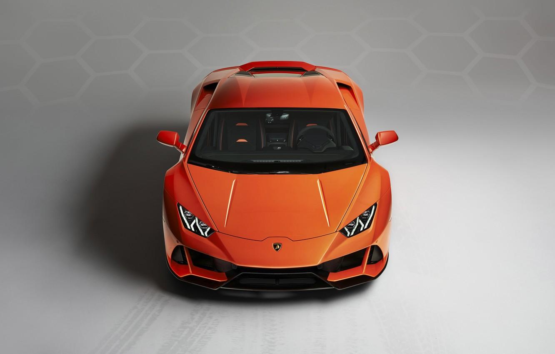 Wallpaper Lamborghini Supercar Front View Evo Huracan 2019