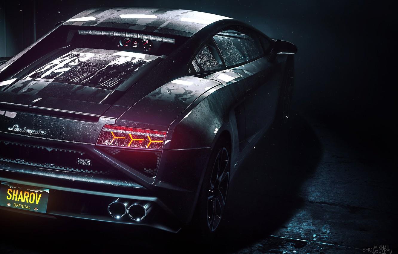 Photo wallpaper Auto, Lamborghini, Machine, NFS, Lamborghini Aventador, Rendering, Sports car, Rivals, Mikhail Sharov, by Mikhail Sharov, …