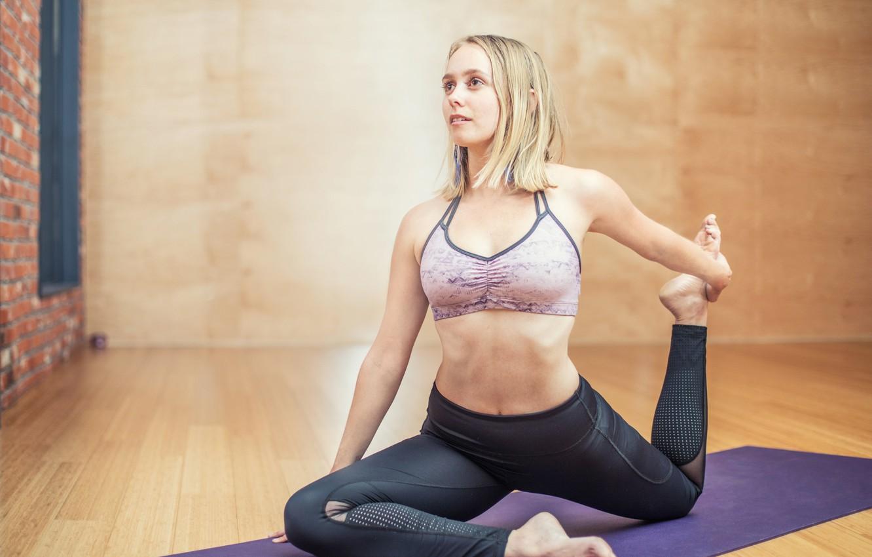 Photo wallpaper girl, Style, yoga, fitness