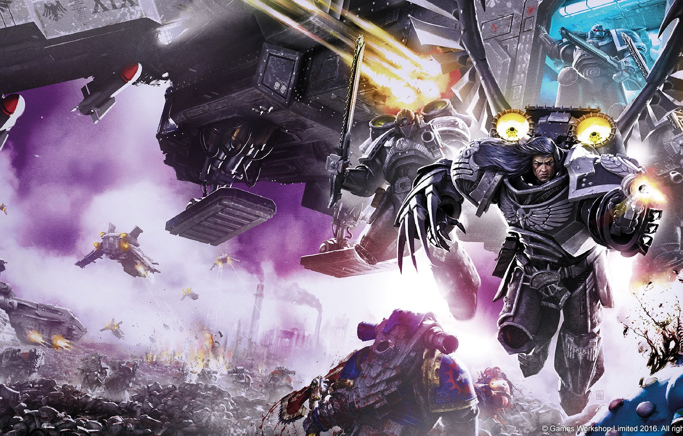 Photo wallpaper Horus Heresy, Warhammer, the Primarch, Warhammer 40 000, Raven Guard, Nevermore, primarch, Corvus Corax, The …