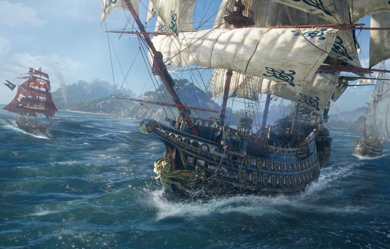 Wallpaper Sea The Game Ship Island Game Screenshot