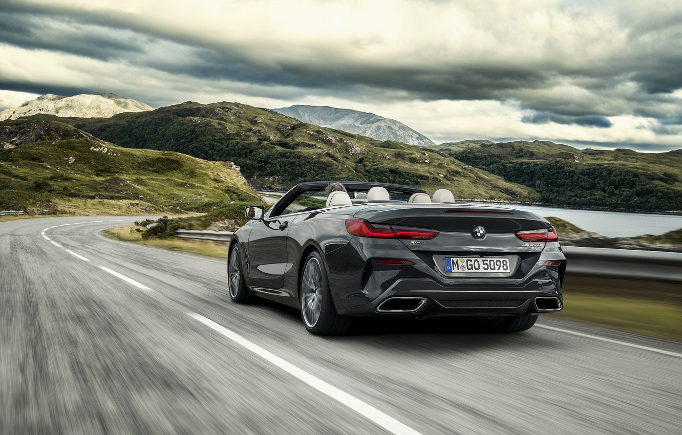Photo wallpaper BMW, the fence, back, convertible, xDrive, G14, 8-series, 2019, Eight, M850i Convertible