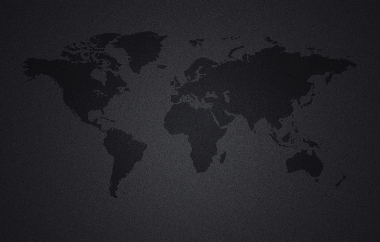 Wallpaper Continents Black Background World Map Continents