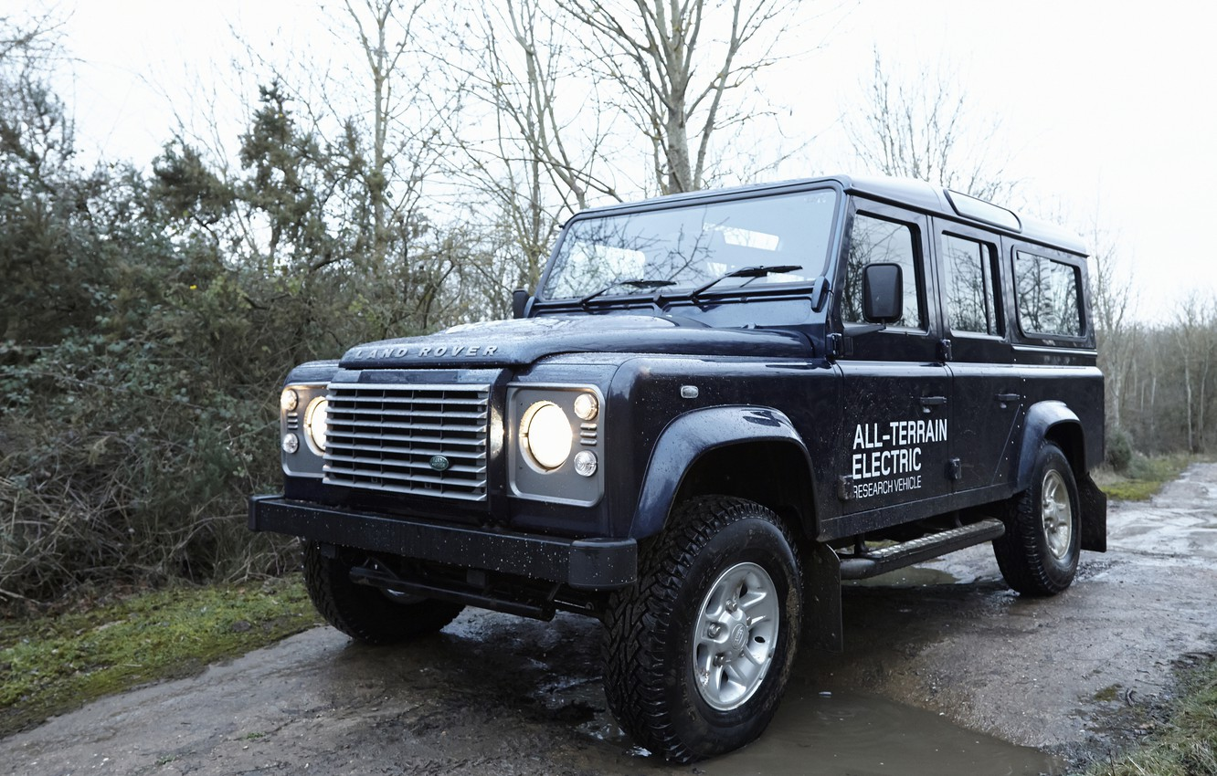 Photo wallpaper SUV, prototype, Land Rover, Defender, 2013, All-terrain Electric Research Vehicle