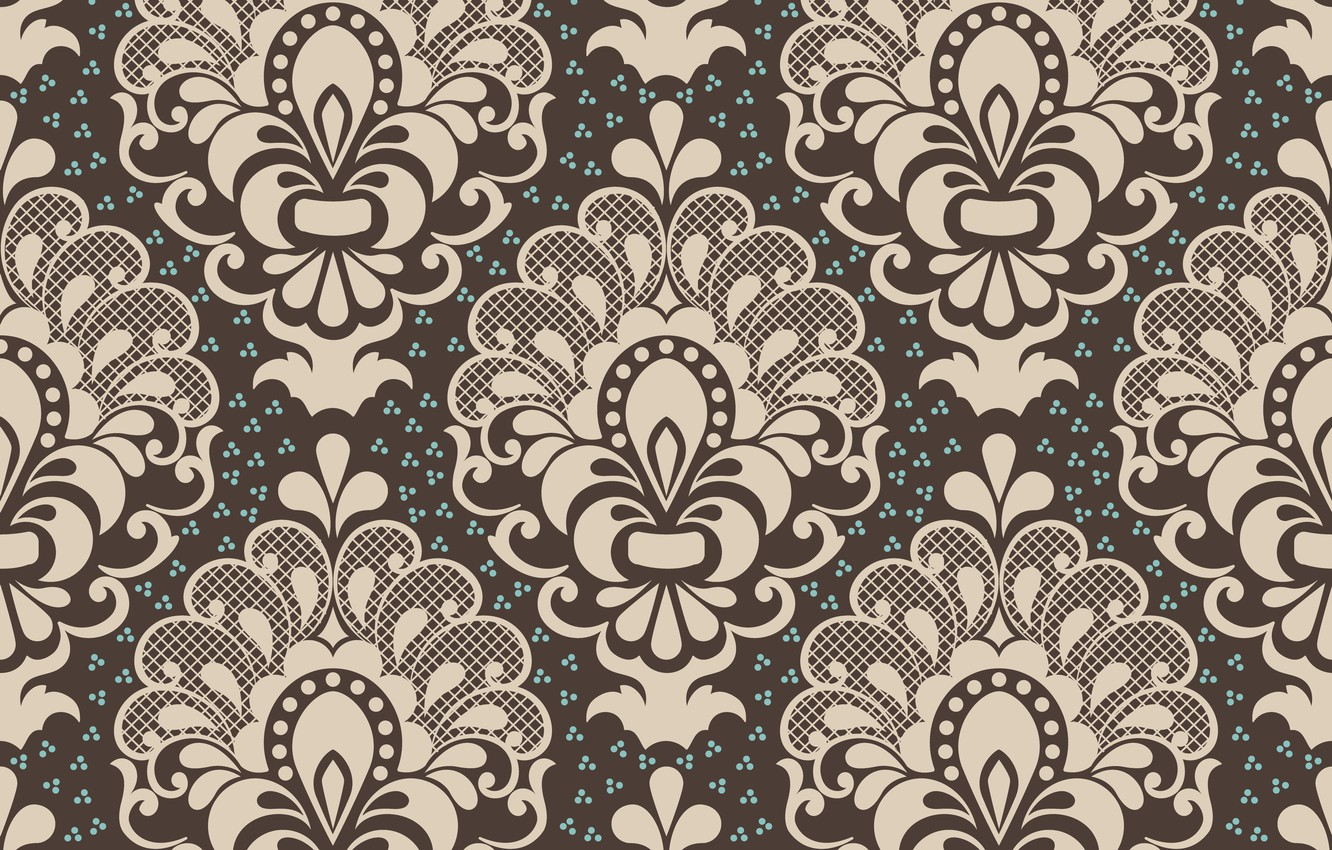 Photo wallpaper background, brown, ornament, style, vintage, ornament, seamless,