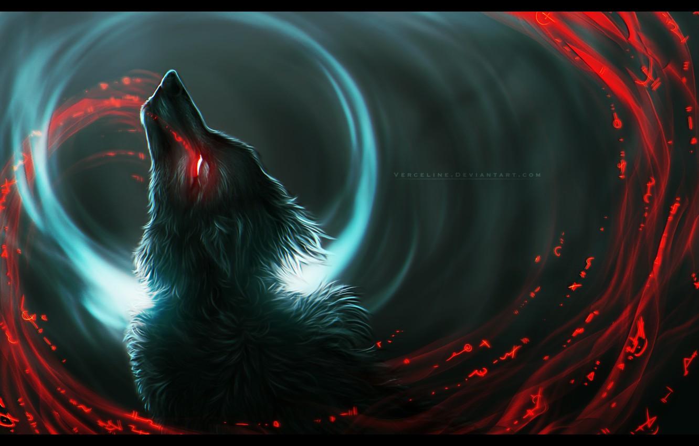 Wallpaper Wolf Predator Wool Werewolf Art Bloody Tears In The Dark Burning Eyes Black Magic Vyrosk Images For Desktop Section Fantastika Download