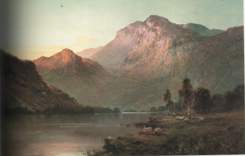 Photo wallpaper mountains, river, lambs, BREANSKI, LOMOND