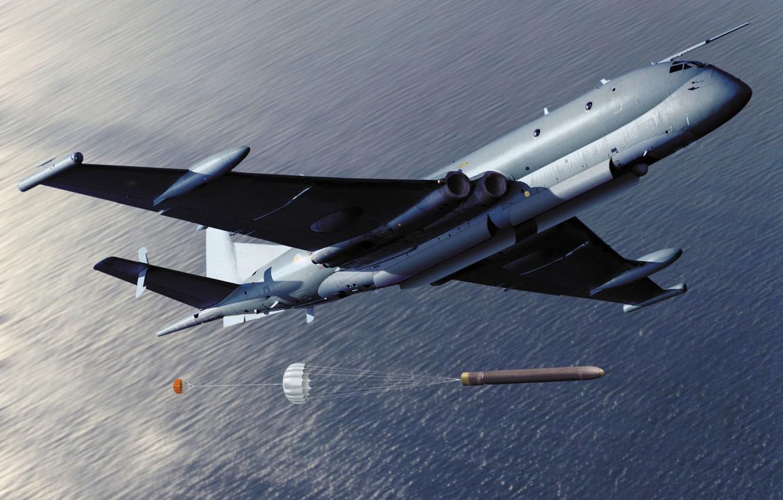 Photo wallpaper sea, the plane, torpedo, RAF, anti-submarine, Nimrod, BAE