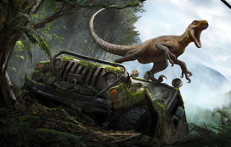 Photo wallpaper dinosaur, lizard, RJ Palmer, The Isle-Magnaraptor
