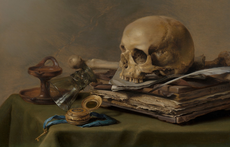 Photo wallpaper Peter., Dutch artist, 1630, Dutch Golden Age painter, Pieter Claesz, Vanitas still life, oil on …