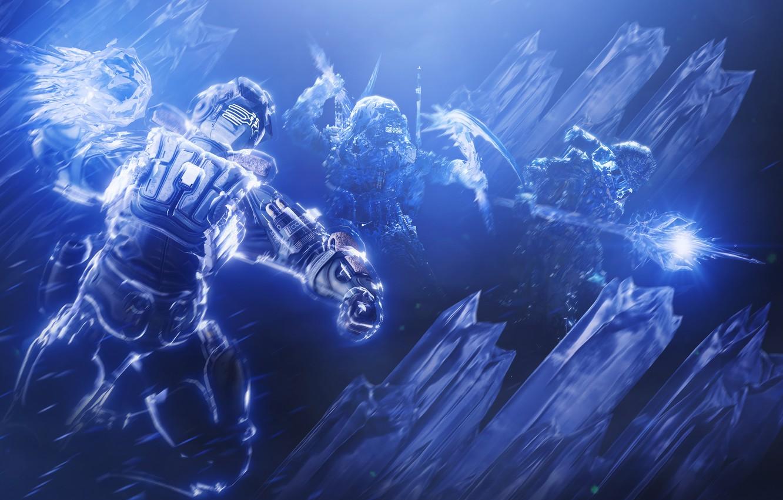 Photo wallpaper Hunter, Bungie, The warlock, Titan, Destiny, Destiny 2, Стазис