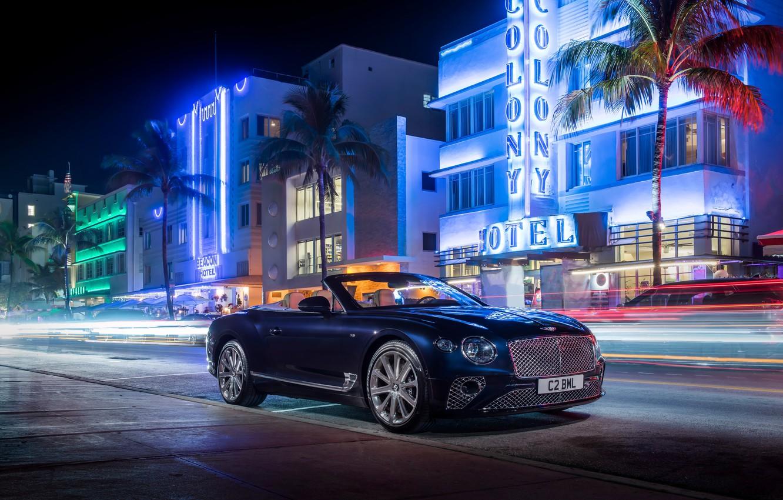 Photo wallpaper Bentley, Continental, Continental GT, Convertible, V8, 2019
