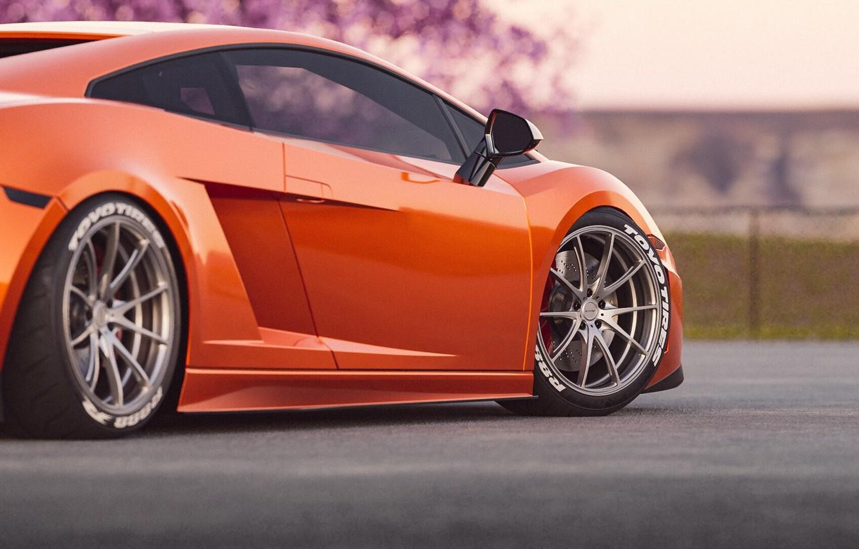 Photo wallpaper Auto, Machine, Orange, Gallardo, Supercar, Lamborghini Gallardo, Sports car, Transport & Vehicles, by Cameron Parmer, …