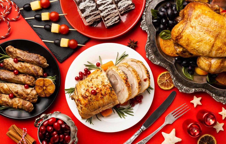Photo wallpaper serving, fried chicken, snacks, meatloaf