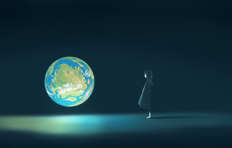 Photo wallpaper fiction, Earth, girl