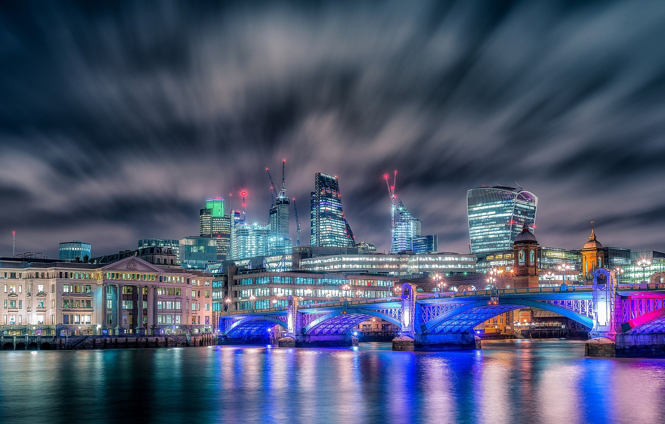 Wallpaper Night The City Lights London Images For Desktop