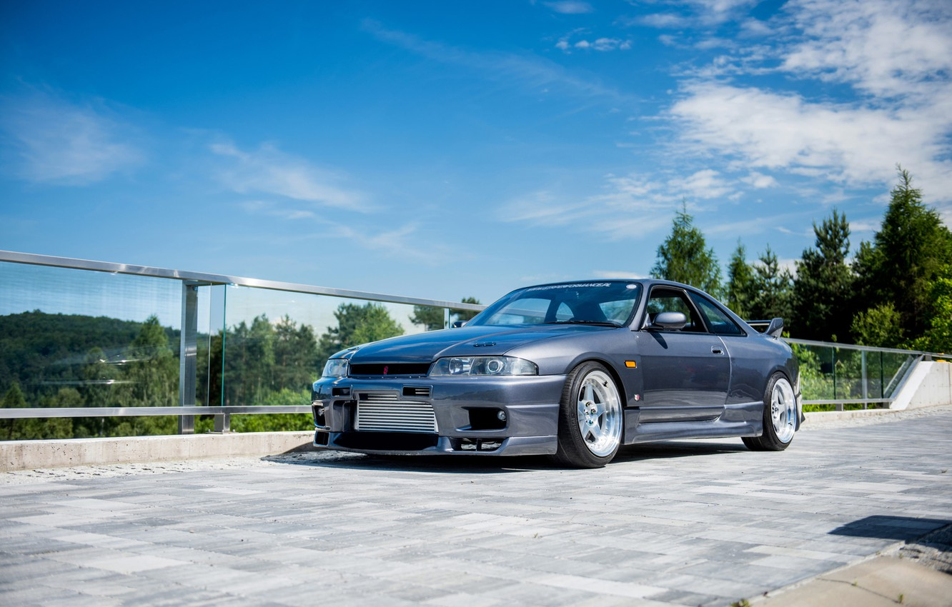 Photo wallpaper Nissan, Sky, Blue, Skyline, R33
