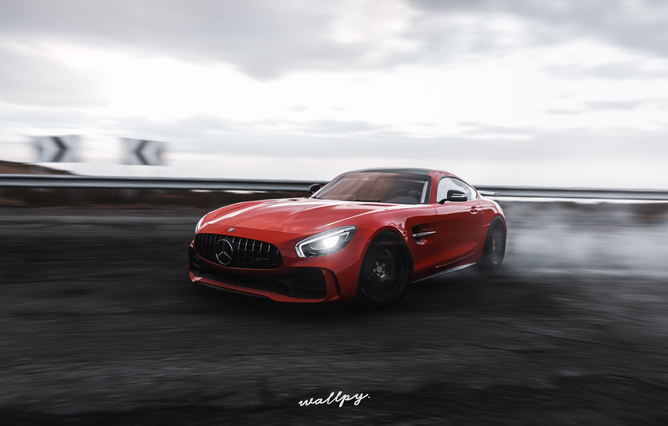 Photo wallpaper Mercedes-Benz, Microsoft, game, AMG, 2018, GT R, Forza Horizon 4, by Wallpy