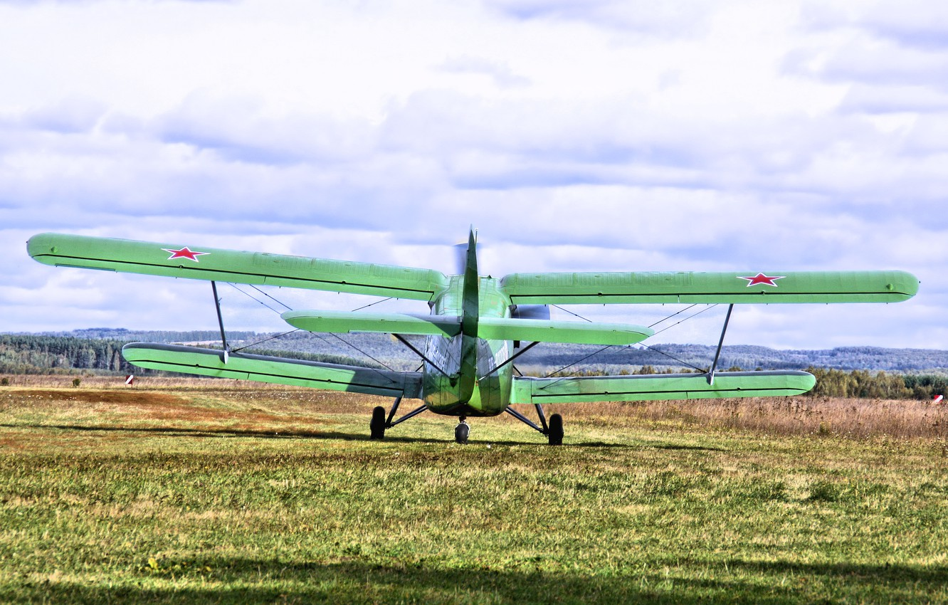 Photo wallpaper Biplane, Anna, Airplane, The airfield, The plane, Biplane, An-2, Maize, Airfield, An-2, Annushka, Spotting, your …