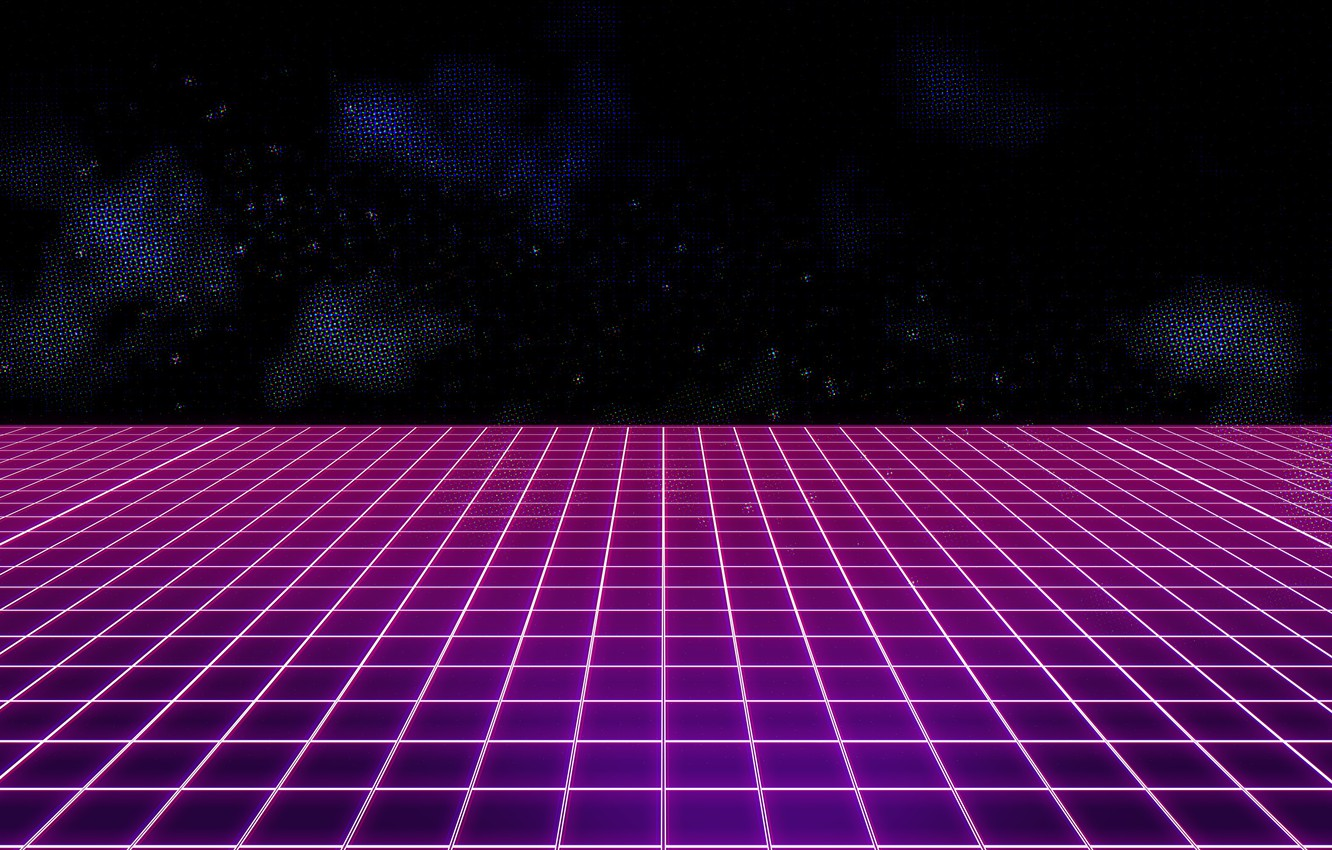Wallpaper Music, Background, 80s, Neon, VHS, 80's, Synth, Retrowave